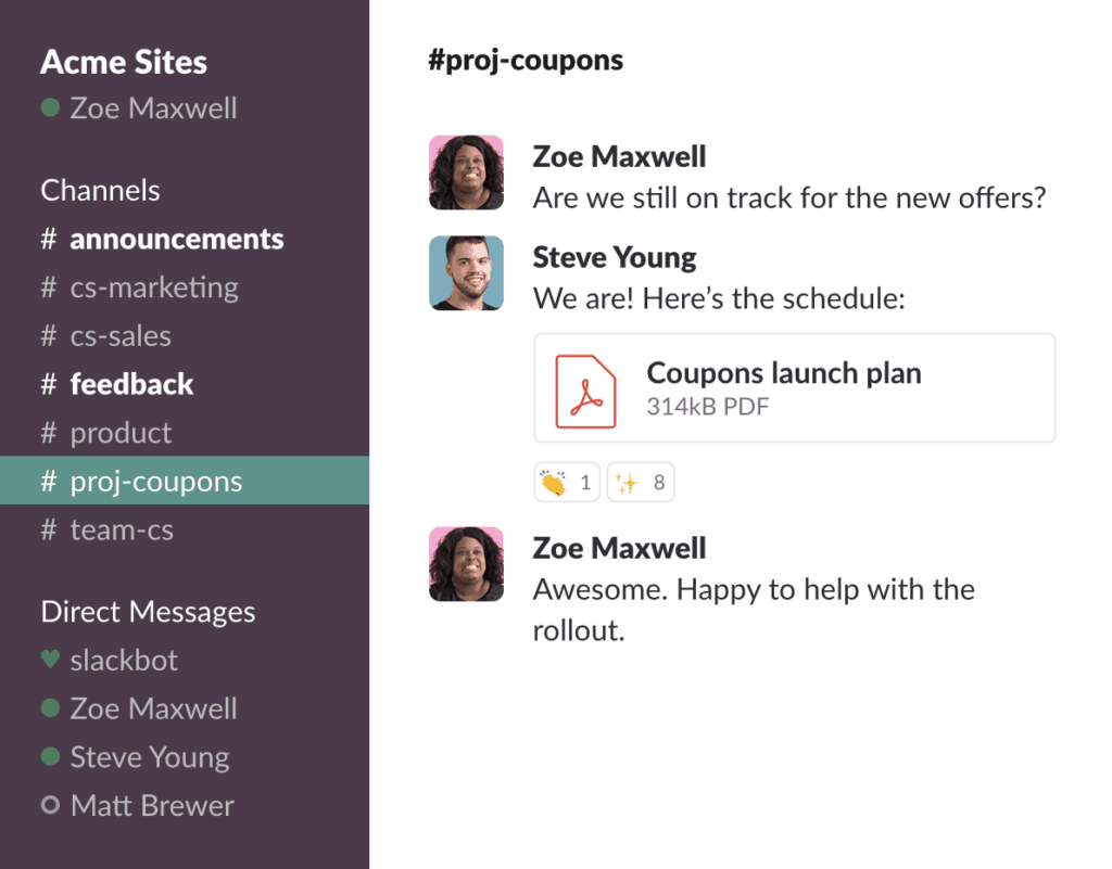 Example of Slack