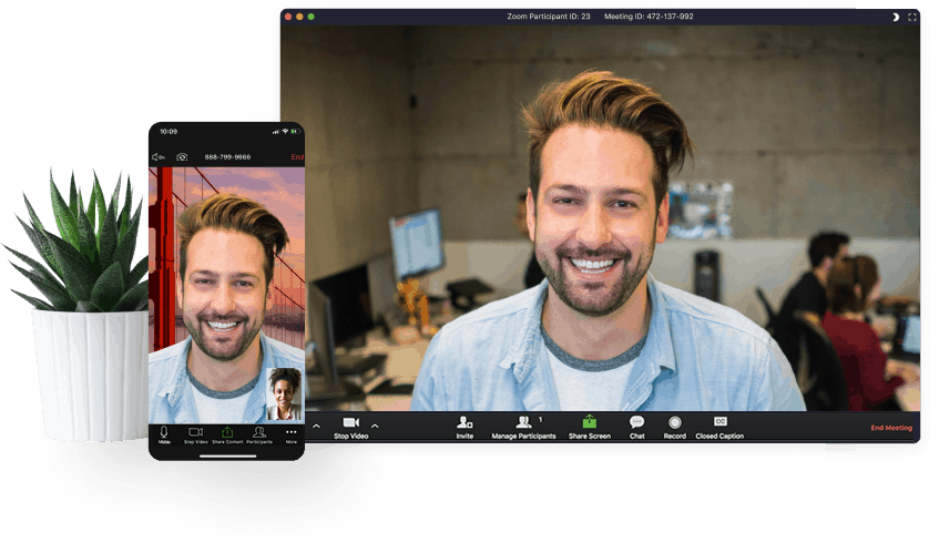 Zoom Video Conferencing, Split Screen