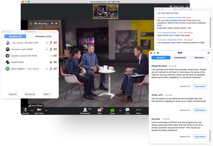Zoom Webinar Livestream